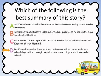 A fine, Fine School - Test Prep Questions