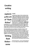 A flash fiction creative writing workshop and resource pack