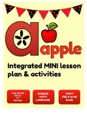 A for Apple : Integrated Lesson Plan & Activities