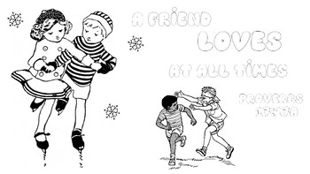 A Friend Loves At All Times Coloring Page By Catherine Halleran Tpt