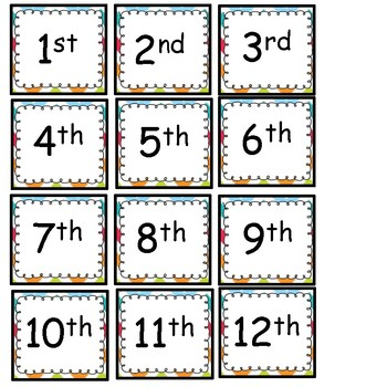 FREE! Full Calendar Set