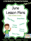 A full month of June Lesson Plans
