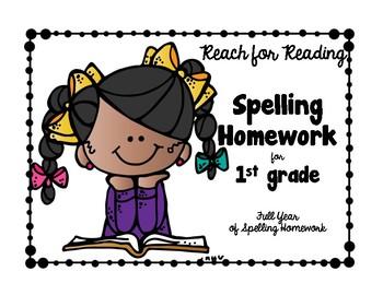 1st Gr. SPELLING HOMEWORK Skill Word Edition Natl. Geo. REACH FOR READING