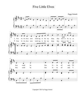 Five Little Elves/Elf Song/Seasons/Musical Drama/Holiday/Steady Beat Assessment