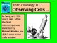 """A grade 6 multimedia lesson on """"Observing Cells""""."""
