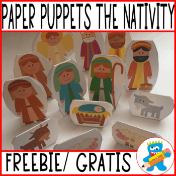 A fun and hands-on retelling resource.Nativity Story. Paper Puppets. Freebie.