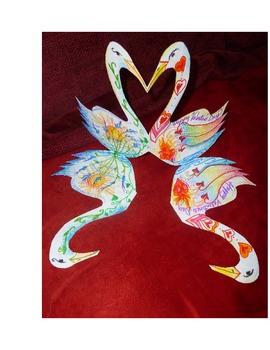 A handmade Valentine Card/Sculpture a craftivity