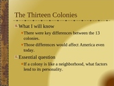 A introduction to American Colonies