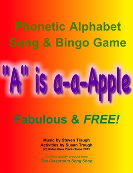 Phonics to the Core - 'A' is a-a-Apple, Alphabet Song & Bingo Game