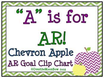 A is for AR ~ Chevron Apple AR Goal Clip Chart
