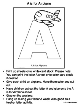 A is for: Activity Sheets