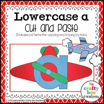 Lowercase A is for Airplane Cut and Paste