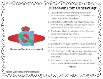 Letter A Craft {Airplane}