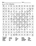 A is for Alaska word search answers