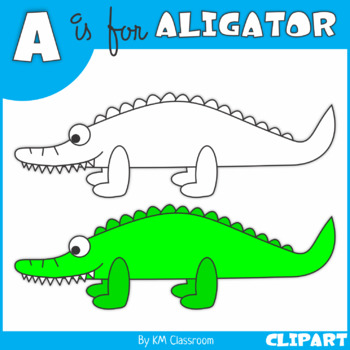 A is for Aligator Clip Art