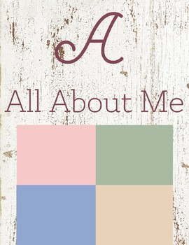 A is for All About Me
