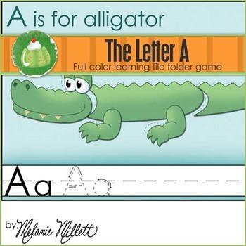 A is for Alligator File Folder Game