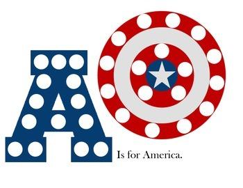 A is for America pom pom mat