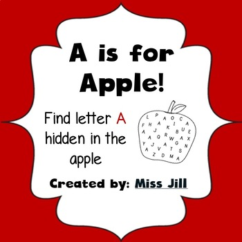 Find Letter A - A is for Apple