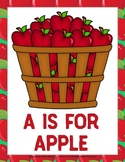 A is for Apple Activity Pack