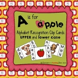 A is for Apple Alphabet Clip Cards