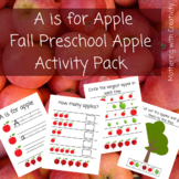 A is for Apple: Back to School Fall/Autumn Preschool / Pre