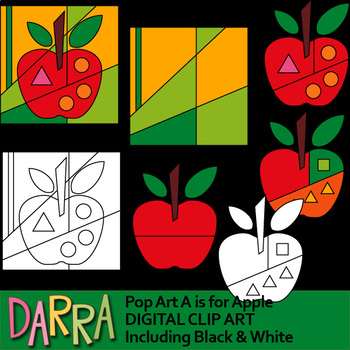 A is for Apple Clip Art - Pop art interactive clipart