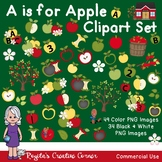 A is for Apple Clipart Set