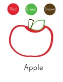 A is for Apple Color Sheet