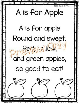 A is for Apple - Fall Poem