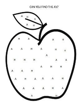A is for Apple-Letter Find