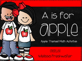 A is for Apple Math Center Activities