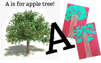 A is for Apple Tree: Art Project for Kids