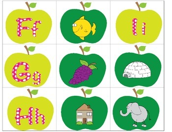 A is for Apple: Uppercase, Lowercase, Beginning Sound Literacy Centers