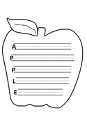 A is for Apple Writing Paper