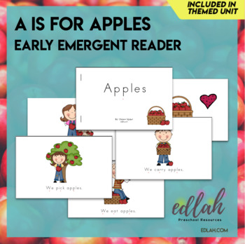 A is for Apples Early Emergent Reader