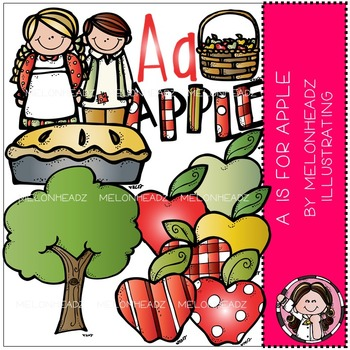 Melonheadz: A is for Apples clip art - COMBO PACK