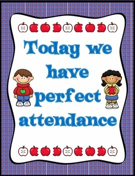 A is for Attendance:  School Wide Editable Kit