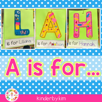 A is for... Large Letters for Decorating Children's Names