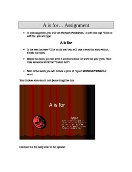 A is for (PowerPoint Tutorial)