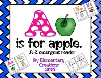 A is for apple-emergent reader