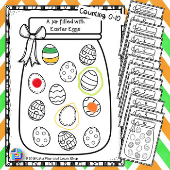 A jar filled with eggs for 0-10 (Preschool)