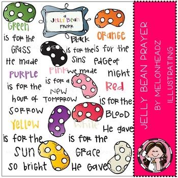 A jelly bean prayer clip art - COMBO PACK- by Melonheadz