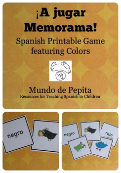A jugar Memorama (Memory) Colors Spanish Printable Game