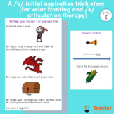 A /k/-initial aspiration trick story (for velar fronting and /k/ articulation)