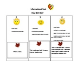 A kid friendly rubric for informational writing in kindergarten