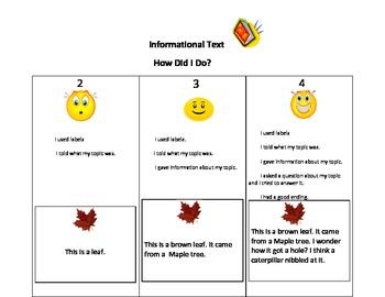 A kid friendly rubric for informational writing in kindergarten