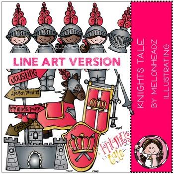 A Knight's Tale clip art - LINE ART- Melonheadz clipart