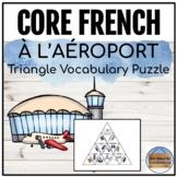 À l'aéroport - Triangle Vocabulary Puzzle
