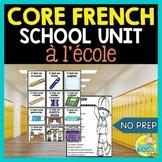 À l'école:  Middle School French School Unit and Project